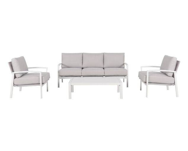 Jette 4 Piece Lounge Setting (White), White, hi-res image number null