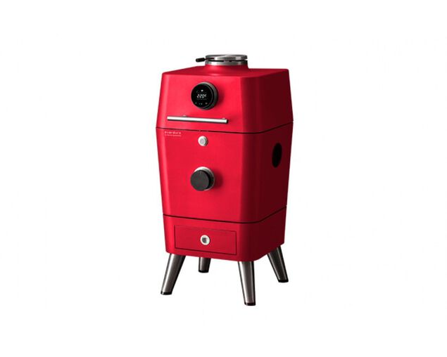 Everdure by Heston Blumenthal 4K Electric Ignition Charcoal Outdoor Oven - Red, , hi-res image number null