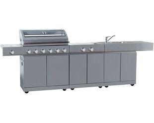 Alfresco Island Inc 6 Burner BBQ, Sink & Range