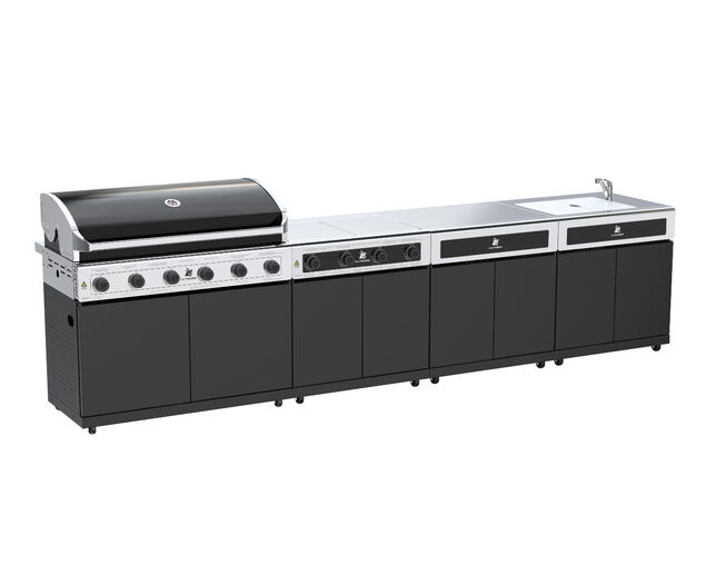 Beefmaster Classic 6 Burner BBQ Kitchen On Classic Cart, , hi-res image number null