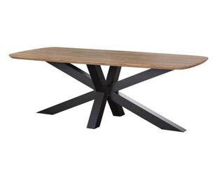 Jakarta Teak 220cm Cross Leg Table (Black)