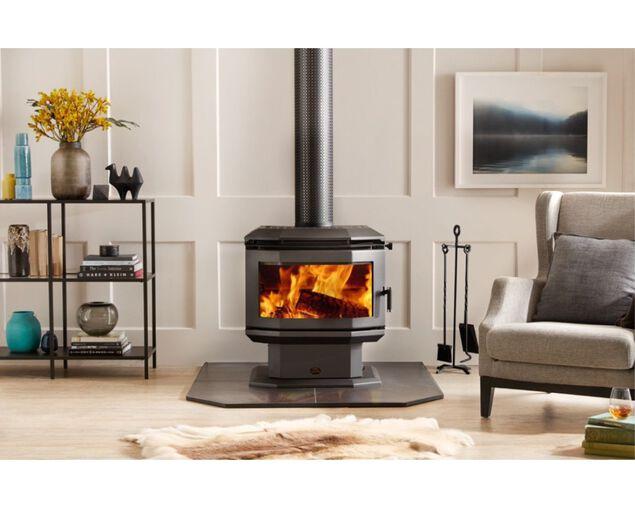 Saxon Rosewood Freestanding Wood Heater, , hi-res image number null
