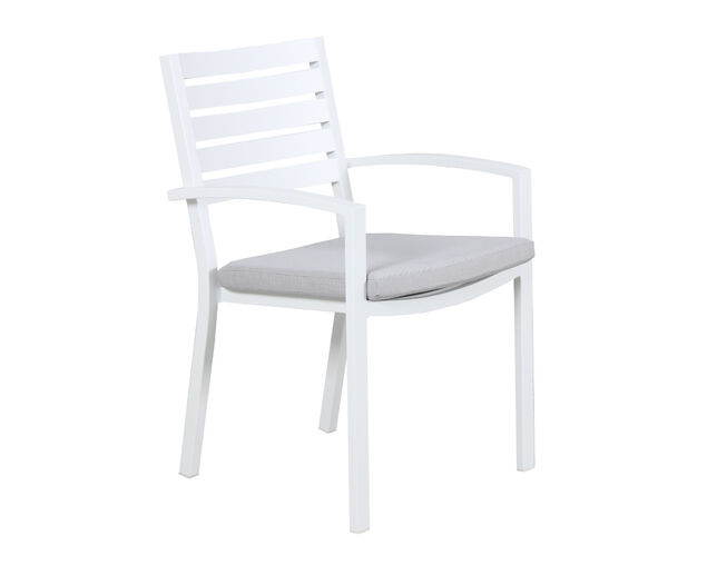 Boston Slatted Dining Chair (White), , hi-res image number null