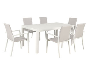 Jette Quick Dry 7 Piece Dining (White)