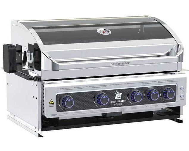 Deluxe Beefmaster 4 Burner Build-In BBQ, , hi-res image number null