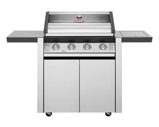 BeefEater 1600 Series - 4 Burner Stainless Steel BBQ With Side Burner (Silver)
