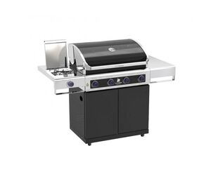 Premium Beefmaster 4 Burner BBQ on Classic Cart with Stainless Steel Side Burner