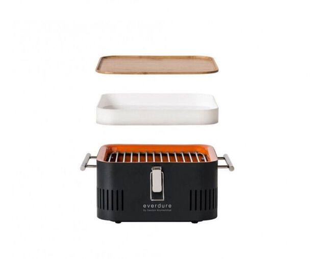 Everdure by Heston Blumenthal CUBE Charcoal Portable Barbeque - Stone, , hi-res image number null