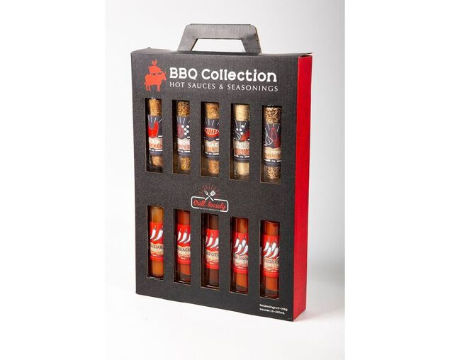 Grill Society 10 Piece Seasoning & Hot Sauce Collection, , hi-res image number null