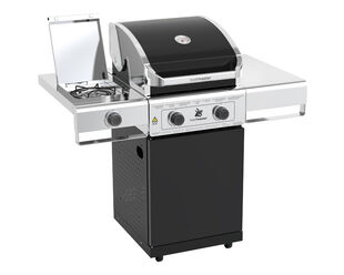 Beefmaster Classic 2 Burner BBQ on Classic Cart with Stainless Steel Side Burner