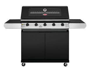 BeefEater 1200 Series - 5 Burner Black Enamel BBQ With Side Burner