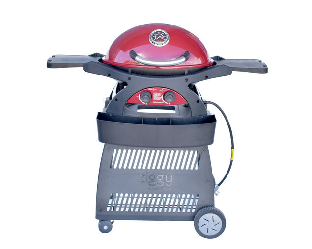 Ziggy by Ziegler & Brown Twin Grill Natural Gas Classic on Cart, , hi-res image number null