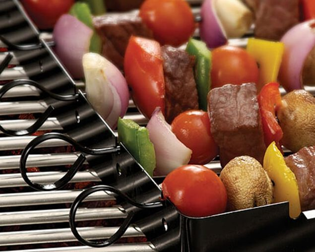 Pro Grill Kebab Rack and Skewers, , hi-res image number null
