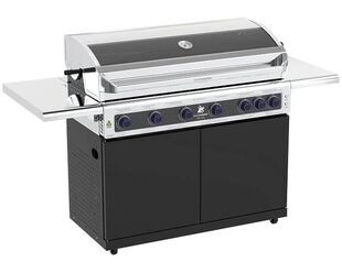 Deluxe Beefmaster 6 Burner on Classic Cart with Folding Shelves