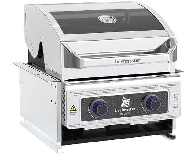 Deluxe Beefmaster 2 Burner Build-In BBQ, , hi-res image number null
