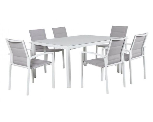 Boston 7 Piece Dining (White), , hi-res image number null