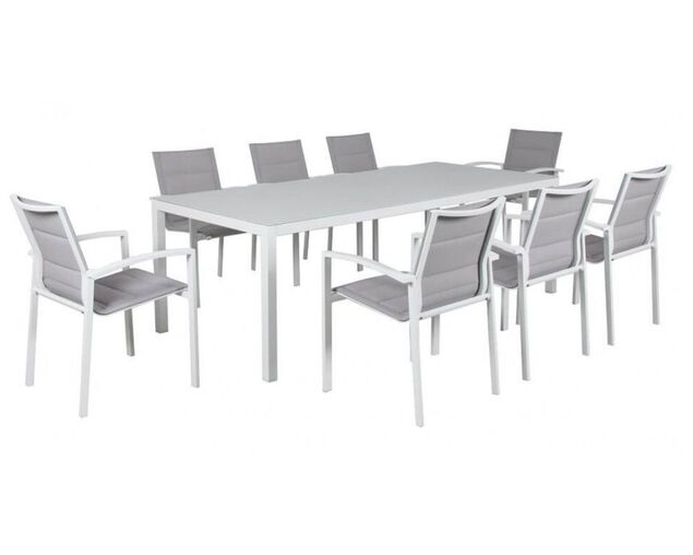 Boston 9 Piece Dining (White), , hi-res image number null