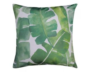Banana Leaf Cushion Green 50 x 50cm