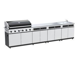 Beefmaster Classic 6 Burner BBQ Kitchen On Deluxe Cart