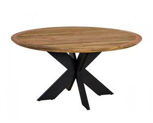 Jakarta Teak 150cm Cross Leg Table (Black)