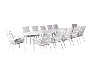 Jette 13 Piece Dining (White)