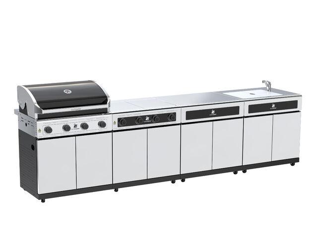Beefmaster Classic 4 Burner BBQ Kitchen On Deluxe Cart, , hi-res image number null