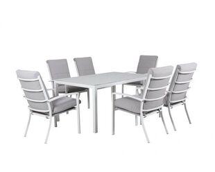 Jette-Boston 7 Piece Dining (White)