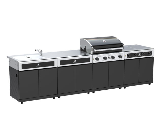 Beefmaster Classic 4 Burner BBQ Kitchen On Classic Cart, , hi-res image number null