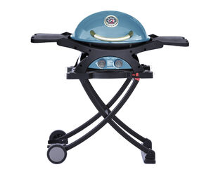 Ziggy by Ziegler & Brown Twin Grill LPG Classic on Folding Cart (Retro Blue) - Limited Edition