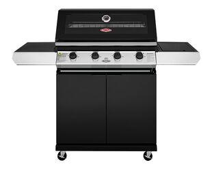 BeefEater 1200 Series - 4 Burner Black Enamel BBQ With Side Burner