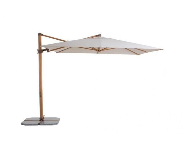 Naples 3x3m Square Cantilever Umbrella Natural, , hi-res image number null