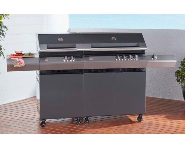 Ziegler & Brown Turbo Classic 6 Burner on Side Burner Cart, , hi-res image number null