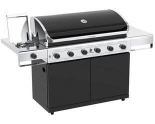 Beefmaster Classic 6 Burner BBQ on Classic Cart with Stainless Steel Side Burner