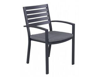 Boston Slatted Dining Chair (Grey)