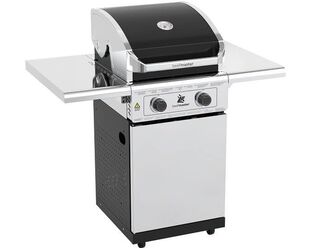Beefmaster Classic 2 Burner BBQ on Deluxe Cart with Folding Shelves
