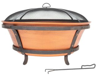 Brushed Copper Cast Iron Fire Pit