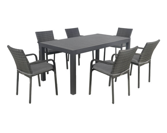 Larache-Jette 7 Piece Dining Setting, , hi-res image number null