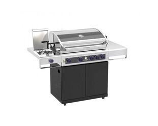 Deluxe Beefmaster 4 Burner BBQ on Classic Cart with Stainless Steel Side Burner