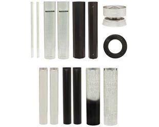 Maxiheat Standard Flue Kit - Metallic Black