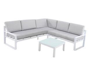 Patmos 3 Piece Lounge Setting (White)