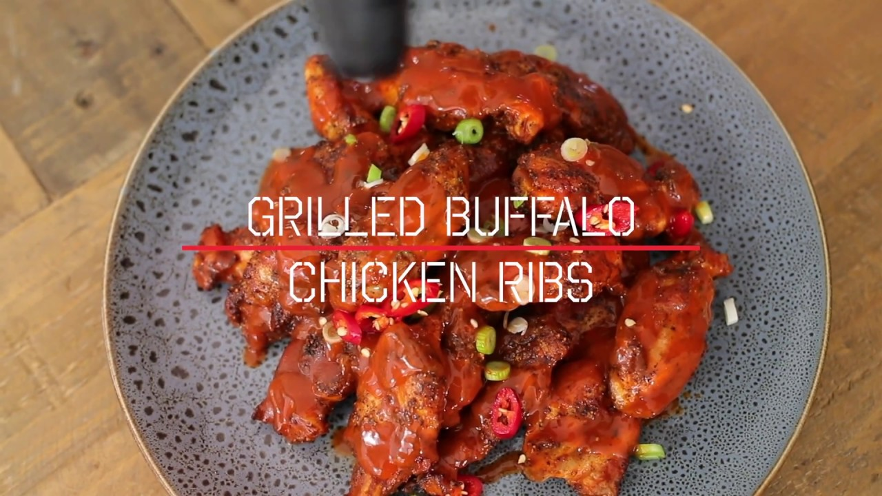 Char-Grilled Buffalo Chicken Ribs Recipe - Low 'n' Slow Barbeque Recipe